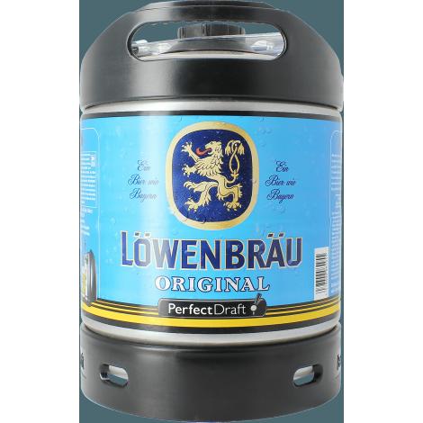 fût 6 litres löwenbraü, blonde allemande