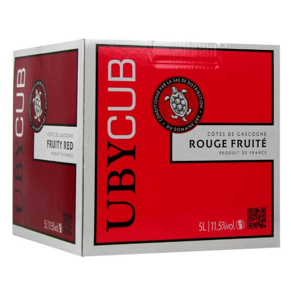 bib Uby cub rouge 5 litresbag in box uby cub rouge 5 litres