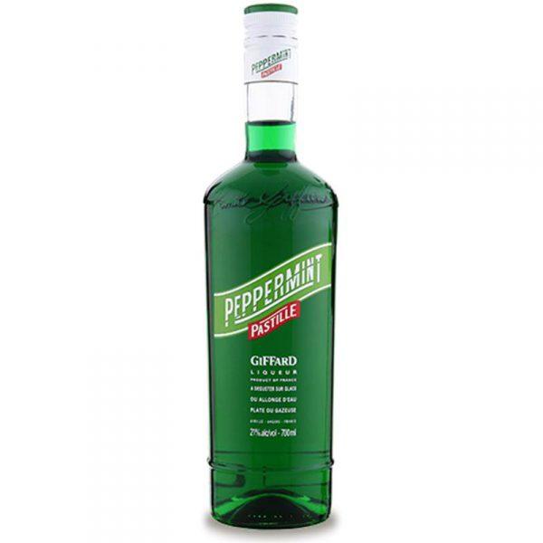 liqueur giffard, peppermint, pastille, menthe verte poivrée