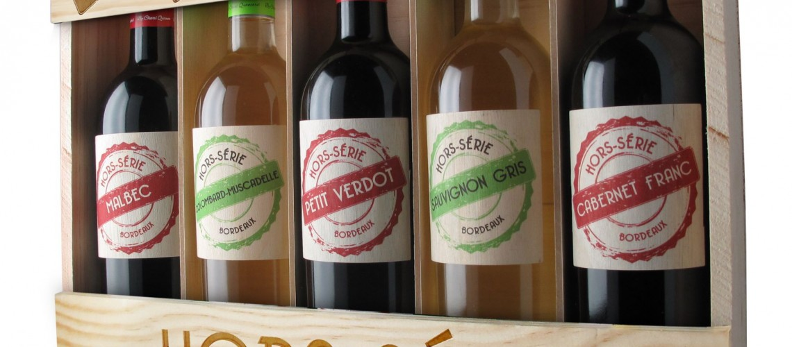 OFFREZ-VOUS un Coffret bois découverte de 5 bouteilles/cépages