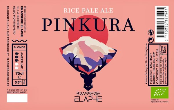 élaphe blonde pinkura bière bio