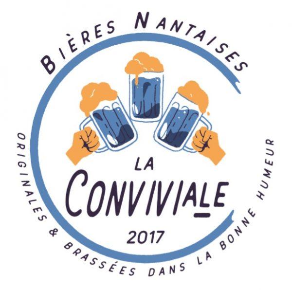 logo conviviviale biere nantaise joyeux bordel ana lucia
