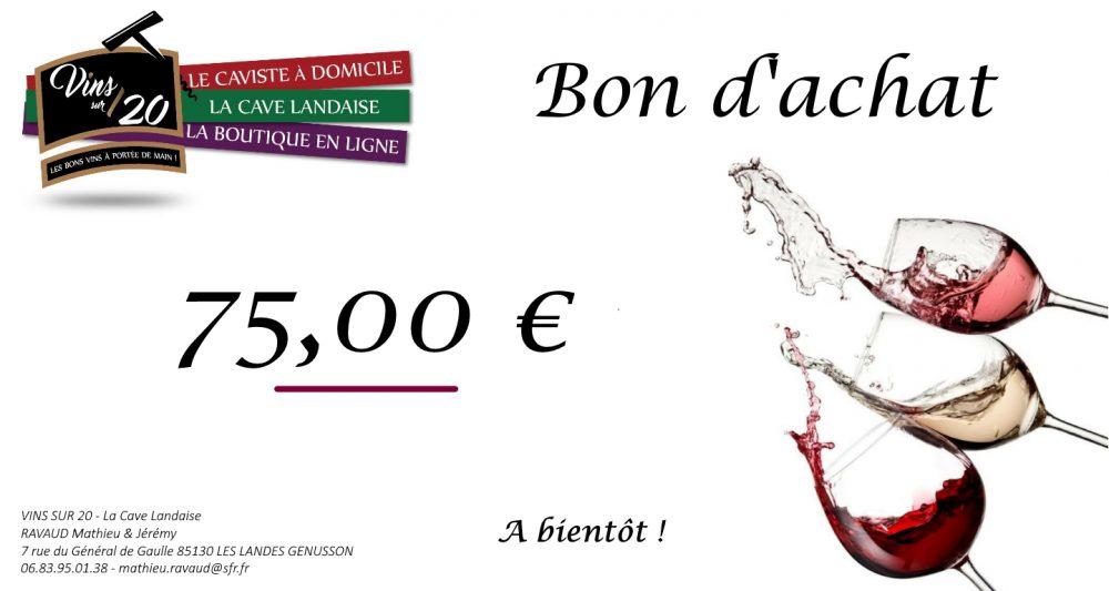 Bon d'achat 75 € cave landaise