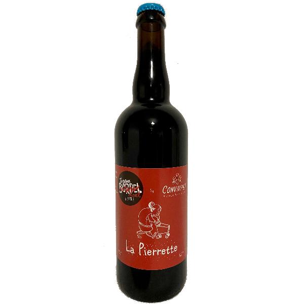 LA PIERRETTE Bière ambrée / épicée du groupe JOYEUX BORDEL Brasserie Conviviale - 75 Cl