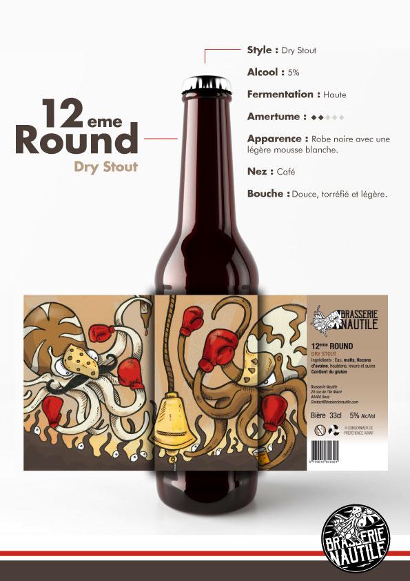 bière 12 ème round brasserie nautile dry stout