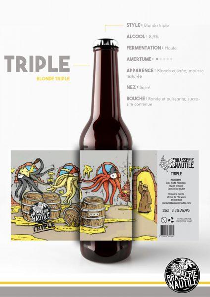 nautile blonde triple bière